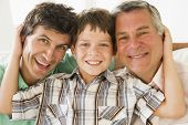 image of multi-generation  - Three generations of men - JPG