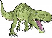 stock photo of tyrannosaurus  - Tyrannosaurus Dinosaur Vector Illustration - JPG