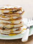picture of maple syrup  - Pancakes with strawberry jam - JPG