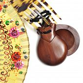 picture of castanets  - spanish castanets - JPG