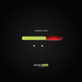 Progress bar - red and green trendy design on dark background