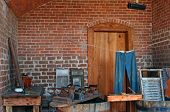Vintage laundry room, Fort Clinch, Florida