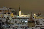 stock photo of olaf  - Kind of winter Tallinn at night - JPG