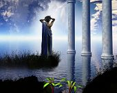 stock photo of greek  - Aphrodite the Greek goddess of love - JPG