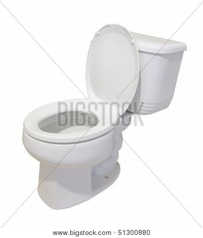Ceramic toilet isolated on white background.