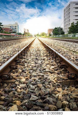 Railroad In The City
