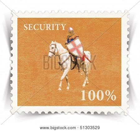 Label For Various Business Advertisements Stylized As Vintage Post Stamp