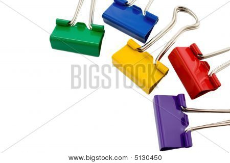 Colored Folderback Clips Collection