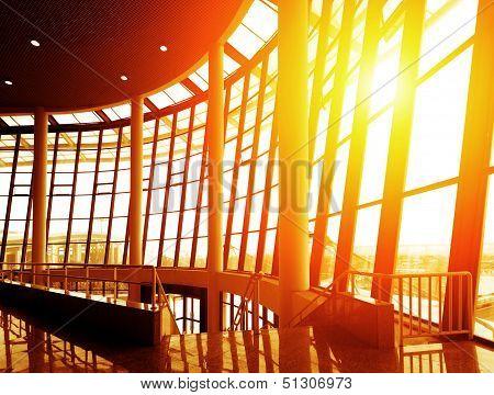 Modern Building Indoor: Office Window