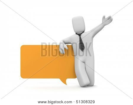 Business concept. Isolated on white