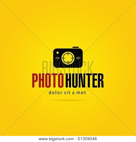 Photo hunter logo template