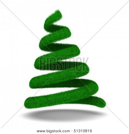 Christmas tree on white. Isolated 3d image