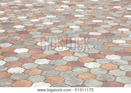 harmonic floor tiles background