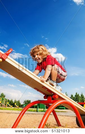 Walking Over Seesaw