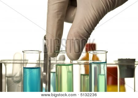 Chemical Laboratory Scene