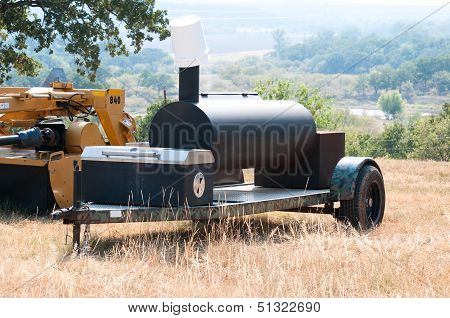 Smoker Grill On A Farm
