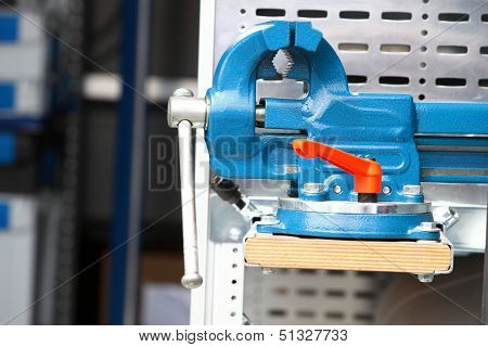 Blue New Mechanical Vice Tool Grip Vise Clamp