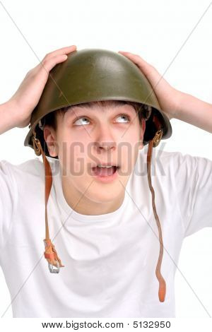 Teenager In Helmet