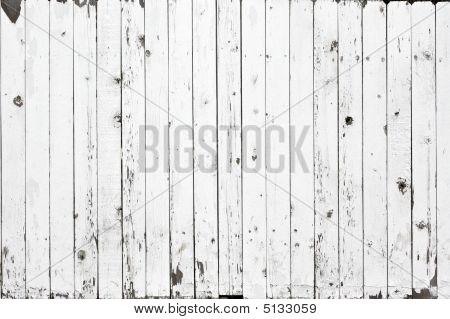 White Fence Background