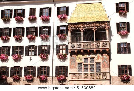 Golden roof in Innsbruck, Austria
