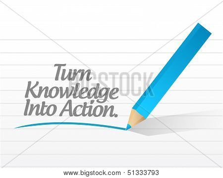 Turn Knowledge Into Action Message Illustration