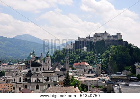 Salzburg With Festung