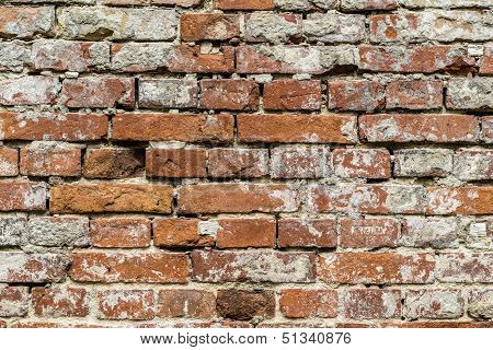 Vintage Red Brick Wall Pattern Background