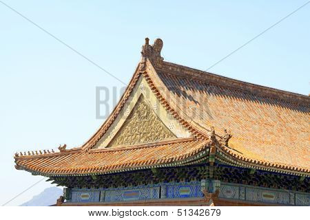 Chinese Ancient Architecture In The Eastern Royal Tombs Of The Qing Dynasty, China