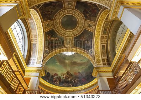 The library at the Assemblee Nationale, Paris, France