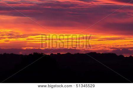 English summer sunset