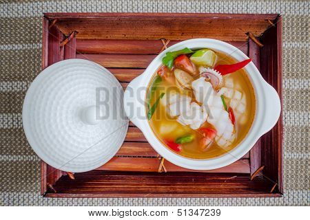 Squid Spicy Lemongrass Soup