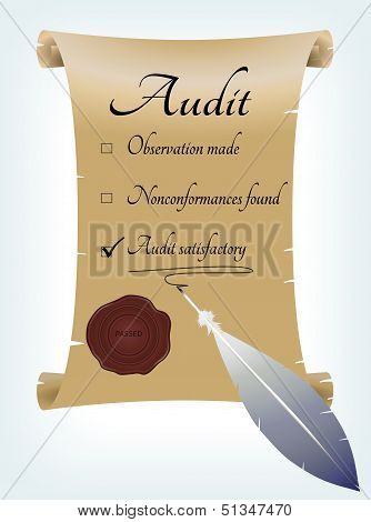 Audit Report In Antique Style