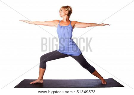 Woman Extending Arms In Yoga