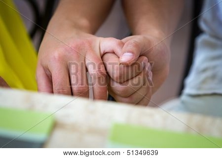 Couple Joining Hands
