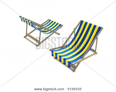 Deck Chairs Blue Yellow