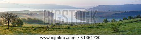 Bakota Morning Spring Panorama (ukraine)