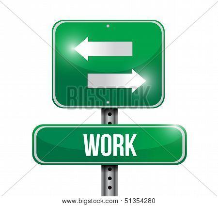 Work Road Sign Illustration