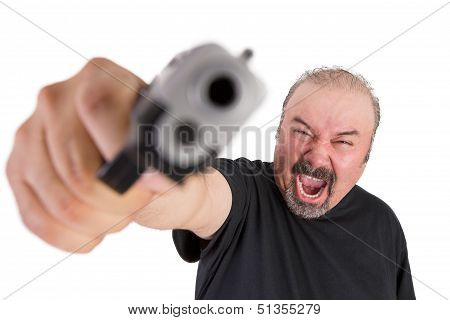 Man Goes Wild With His Gun Screams Out Loud