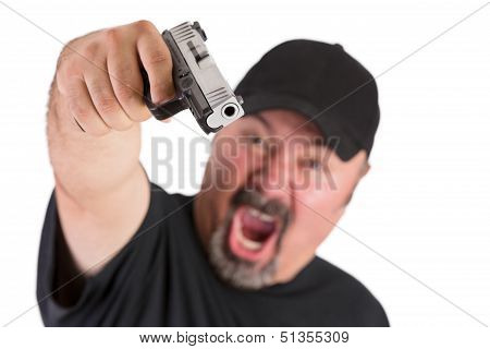 Man With The Gun Screams
