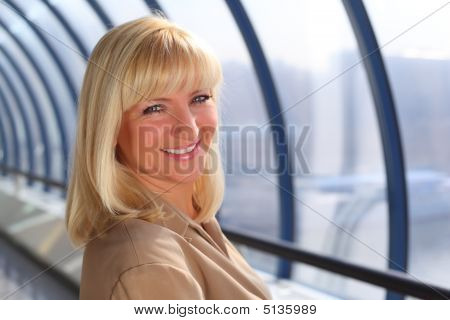 Smiling Middleaged Businesswoman