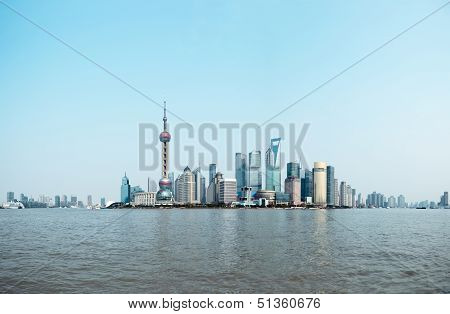 Panoramic View Of Shanghai Skyline