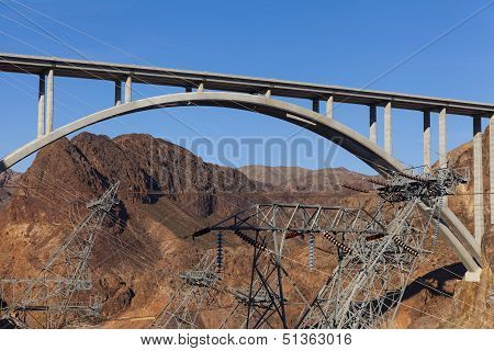 Electricity Towers Surround The Pat Tillman Memorial Bridge In Boulder City, Nv On May 13, 2013