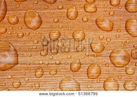 Water Beads On Decking