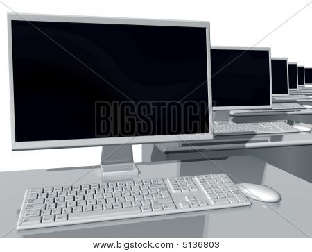 Desktop Computers In An Office Environment
