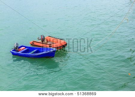 The Dual Boat On Sea.