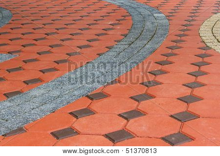 Tiled Paving Stones Colorful  Pattern