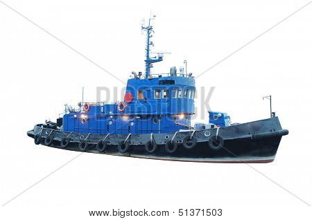 The image of a towboat
