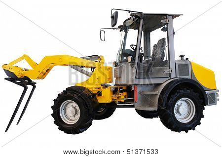 The image of a hinged tractor