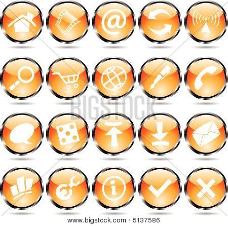 Orange Round Icons