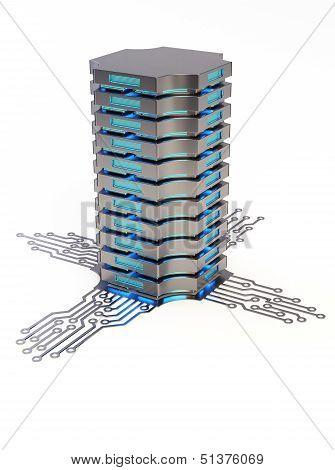 Server 3D concept